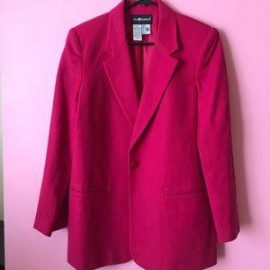 Hot Pink Fuchsia Colored Women's Wool Blazer